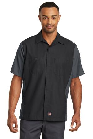 Red Kap Short Sleeve Ripstop Crew Shirt. SY20