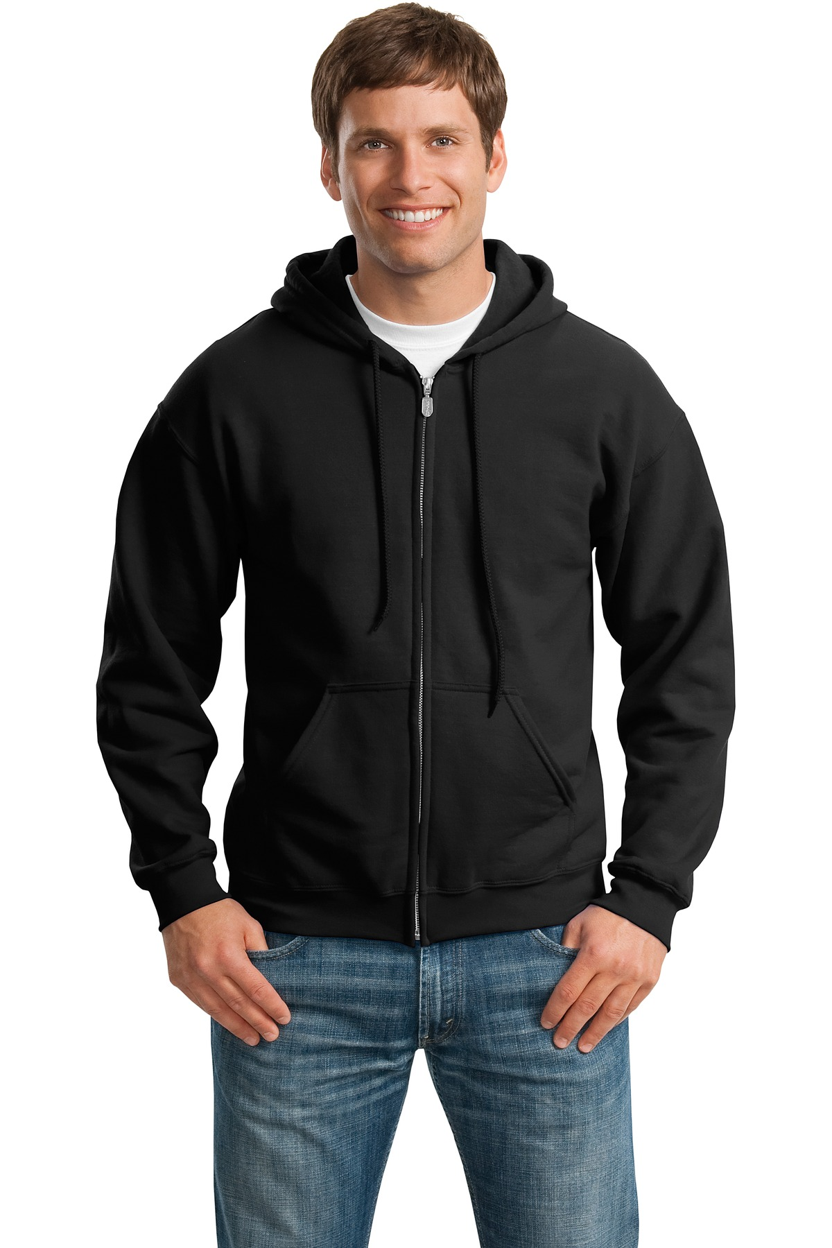 Gildan ®  - Heavy Blend™ Full-Zip Hooded Sweatshirt. 18600 - Black