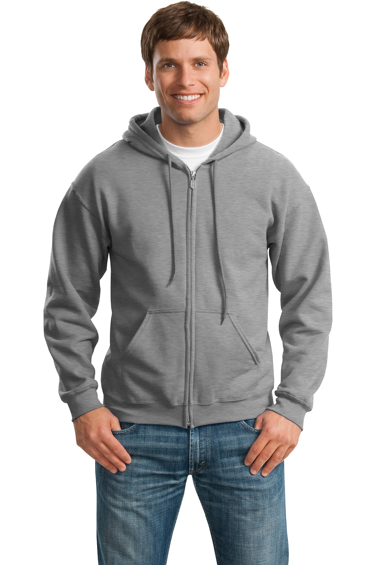 Gildan ®  - Heavy Blend™ Full-Zip Hooded Sweatshirt. 18600 - Sports Grey