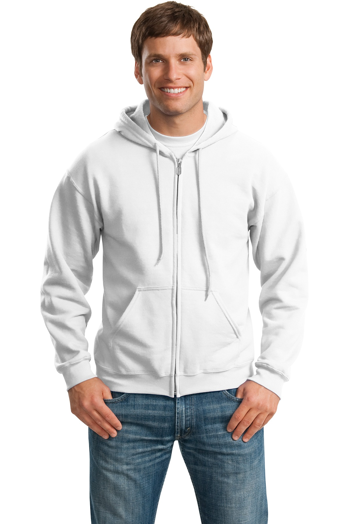 Gildan ®  - Heavy Blend™ Full-Zip Hooded Sweatshirt. 18600 - White