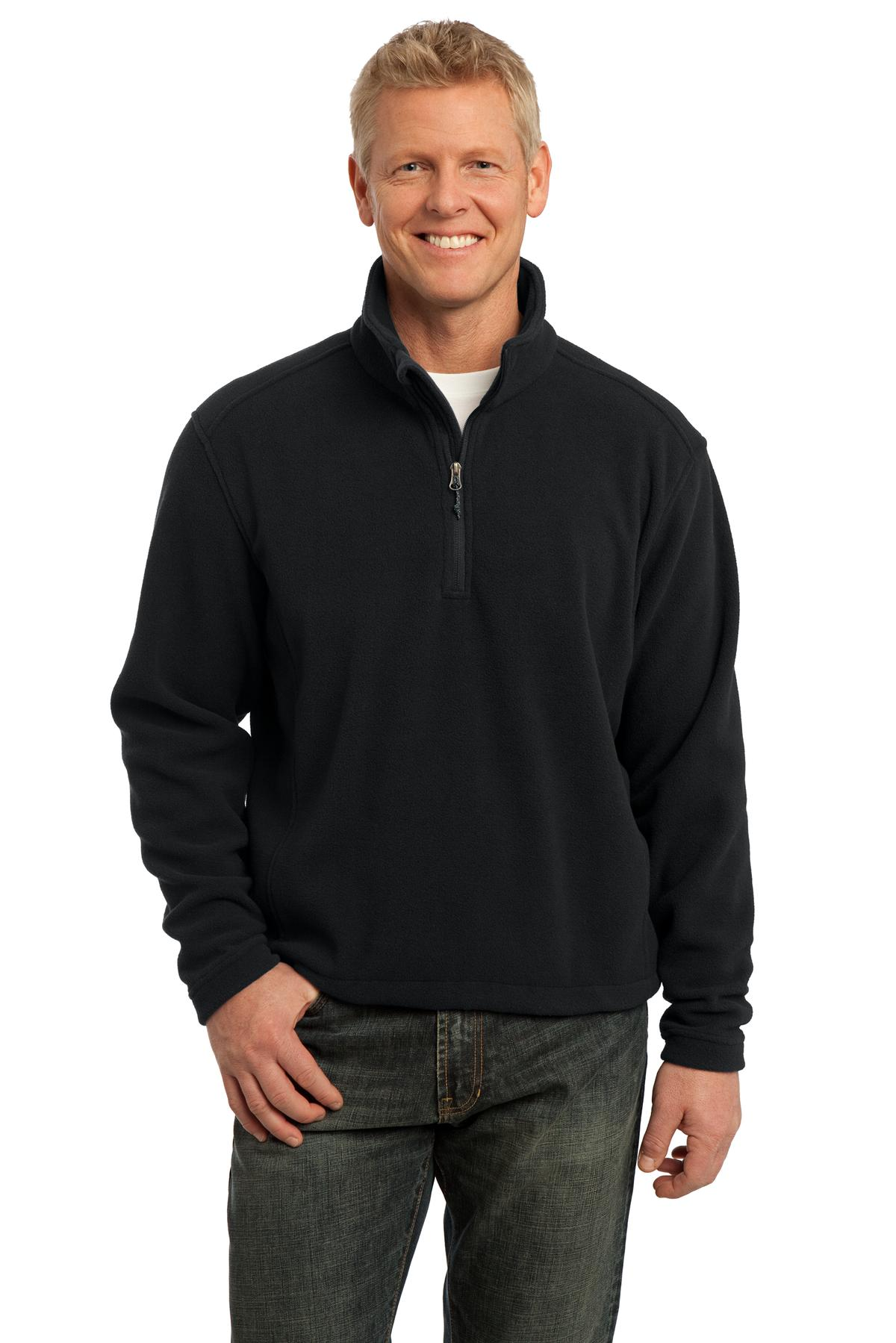 DISCONTINUED Port Authority Tall Value Fleece 1/4-Zip Pullover. TLF218