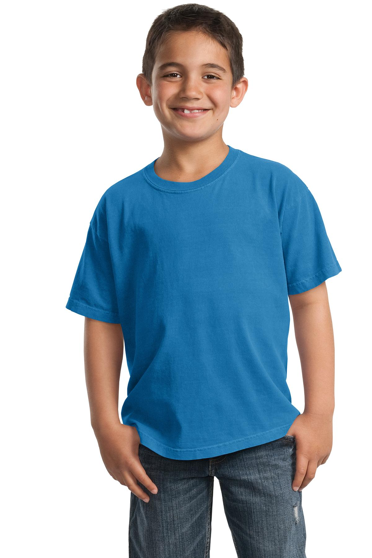 Port & Company ®  Youth Beach Wash ™  Garment-Dyed Tee. PC099Y - Blue Moon