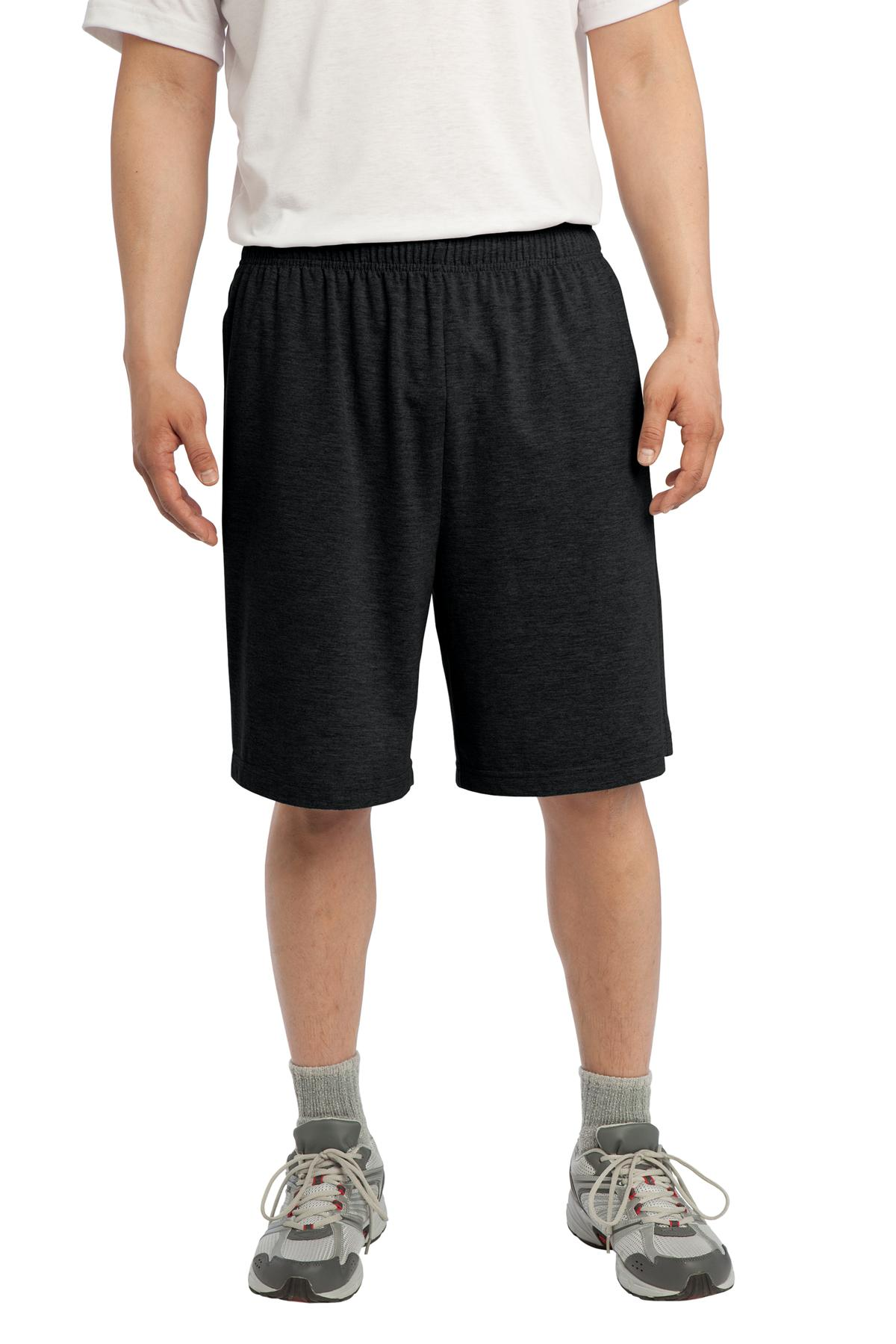 Sport-Tek ®  Jersey Knit Short with Pockets. ST310 - Black