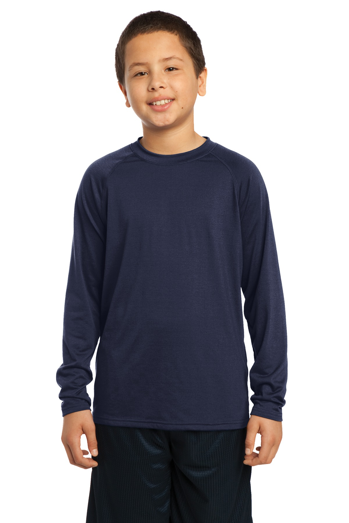 DISCONTINUED Sport-Tek Youth Long Sleeve Ultimate Performance Crew. YST700LS