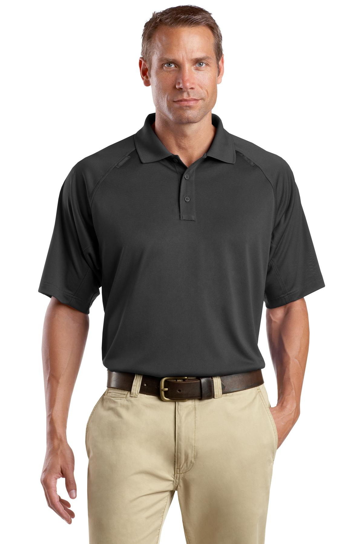 CornerStone ®  - Select Snag-Proof Tactical Polo. CS410 - Charcoal