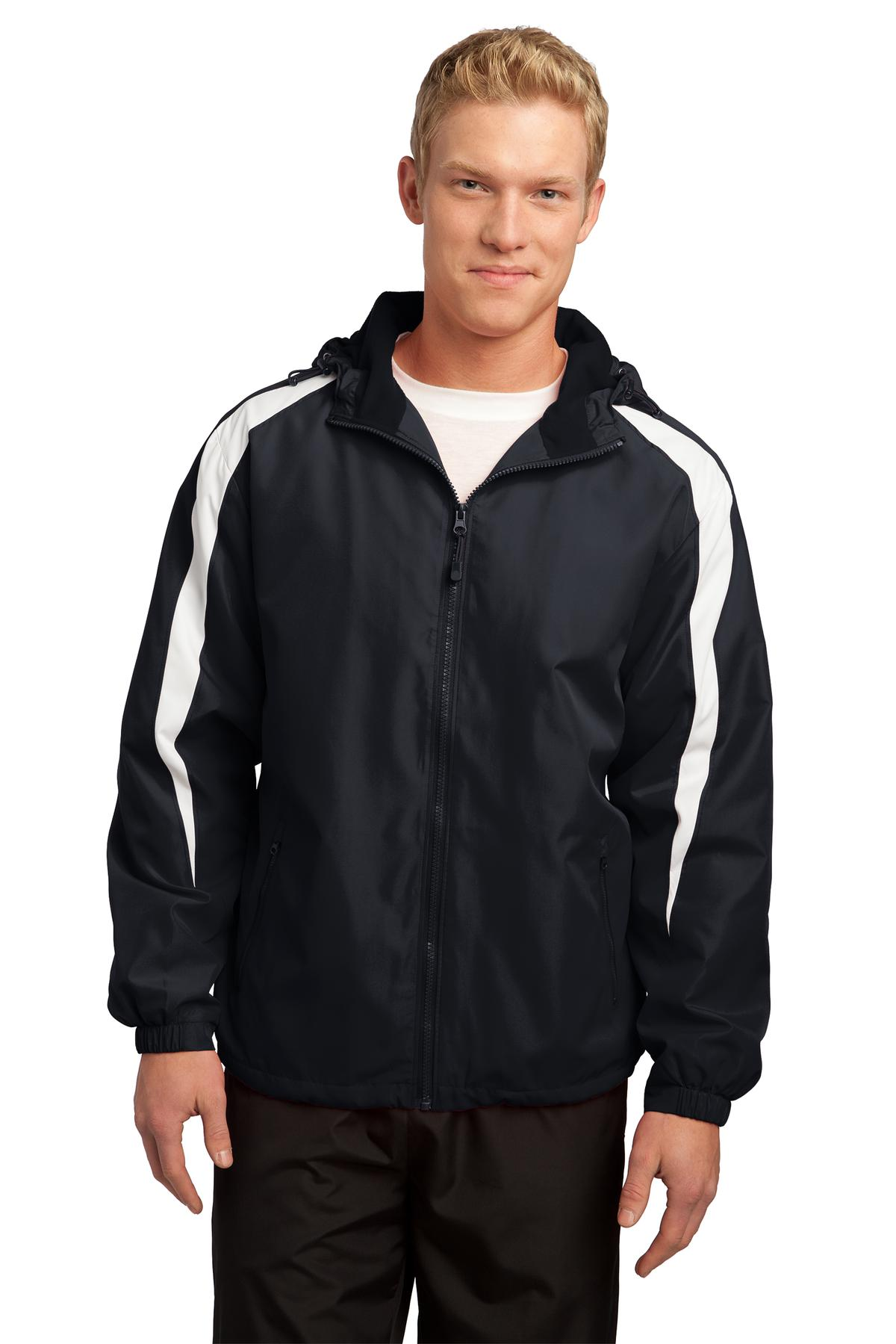 Sport-Tek ®  Fleece-Lined Colorblock Jacket. JST81 - Black/White