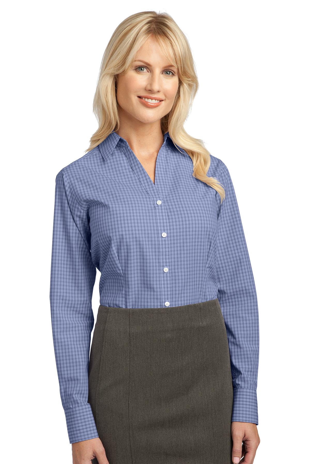 Port Authority ®  Ladies Plaid Pattern Easy Care Shirt. L639 - Navy