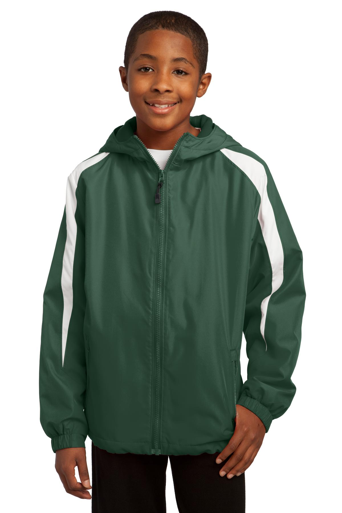 Sport-Tek Youth Fleece-Lined Colorblock Jacket. YST81