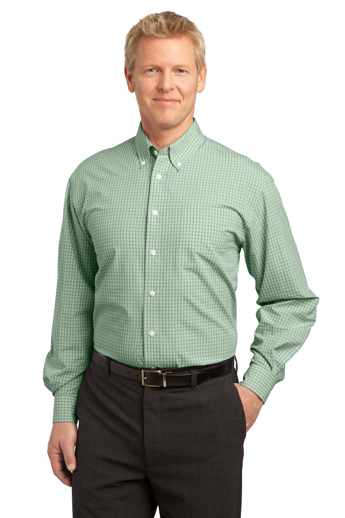 Port Authority ®  Plaid Pattern Easy Care Shirt. S639 - Green