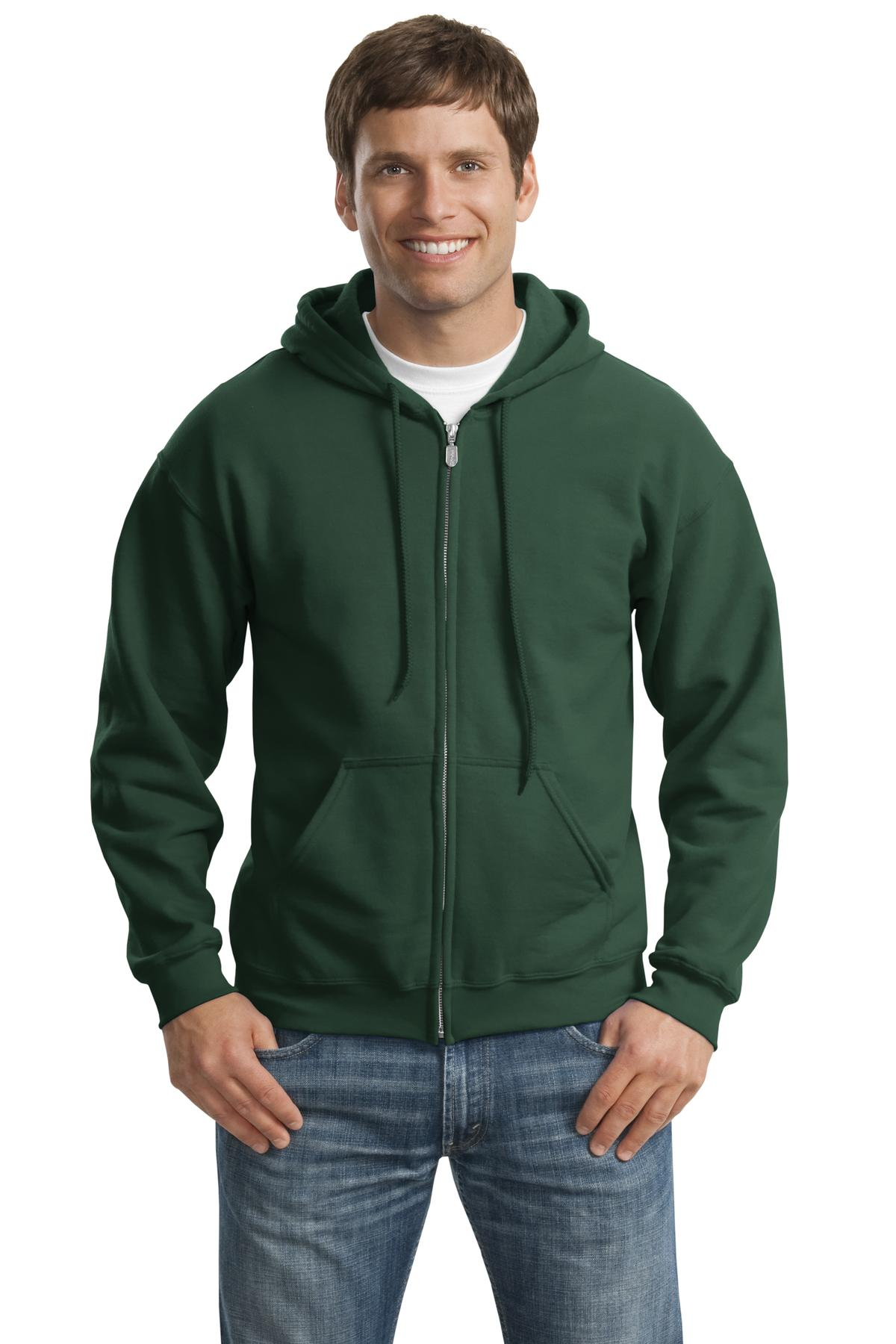 Gildan ®  - Heavy Blend™ Full-Zip Hooded Sweatshirt. 18600 - Forest Green