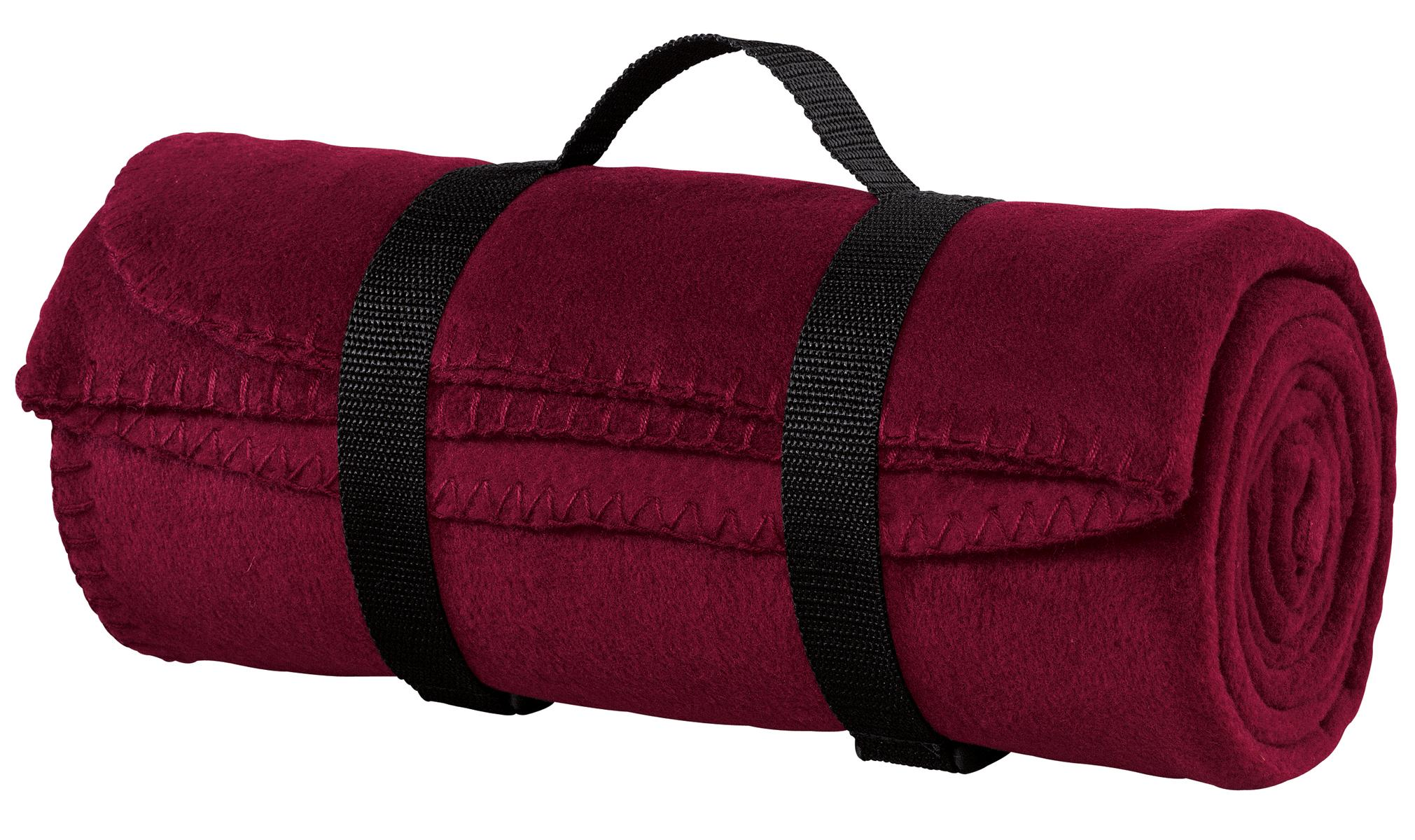 Port Authority ®  - Value Fleece Blanket with Strap.  BP10 - Maroon