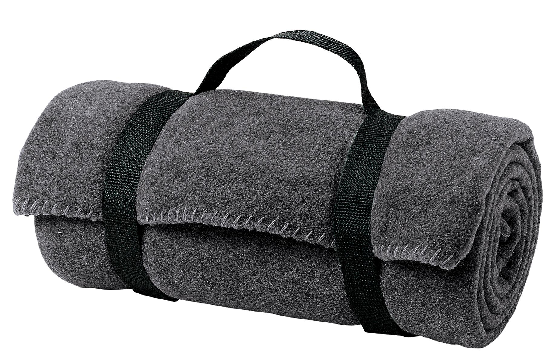 Port Authority ®  - Value Fleece Blanket with Strap.  BP10 - Midnight Heather