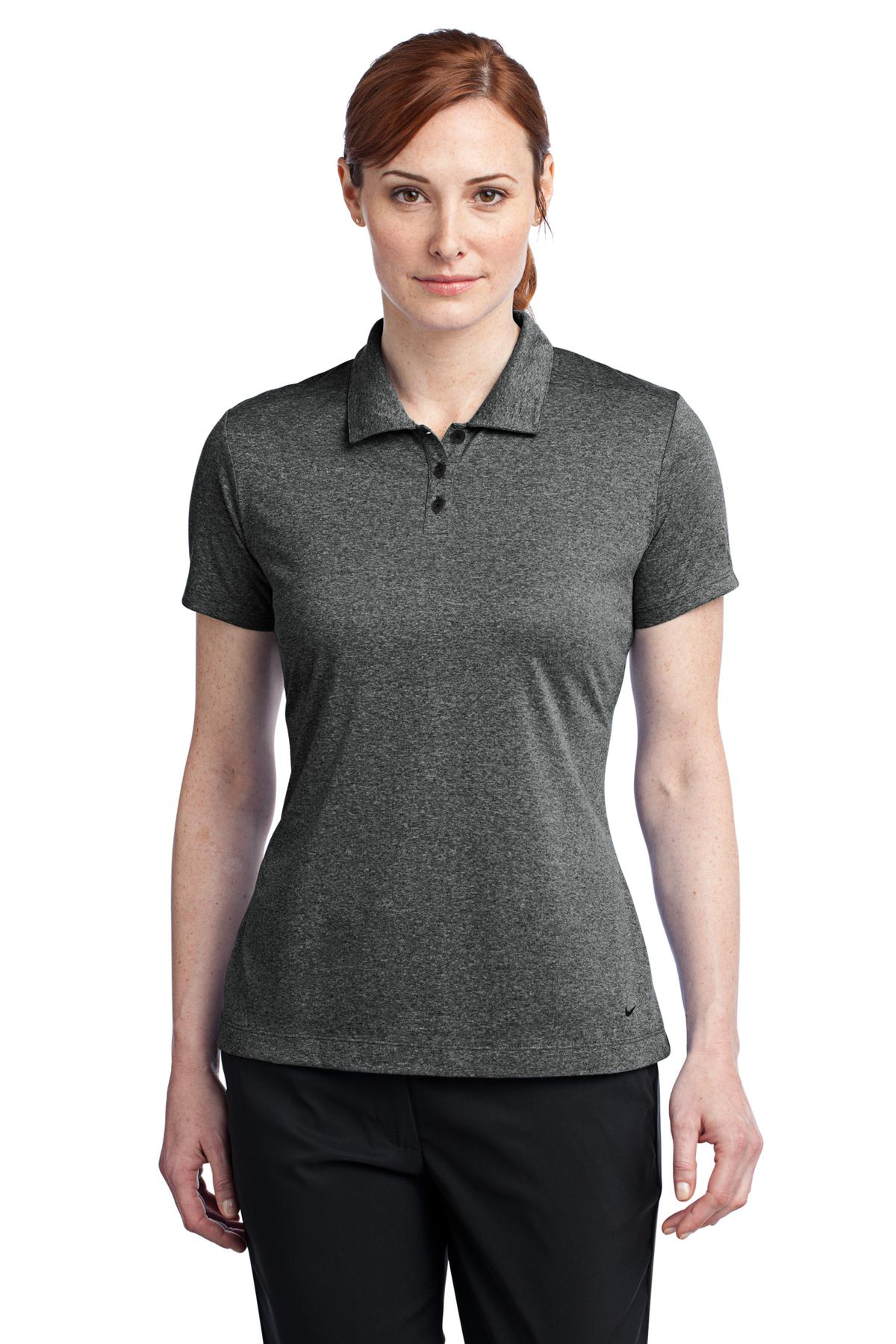 Nike Ladies Dri-FIT Heather Polo. 474455
