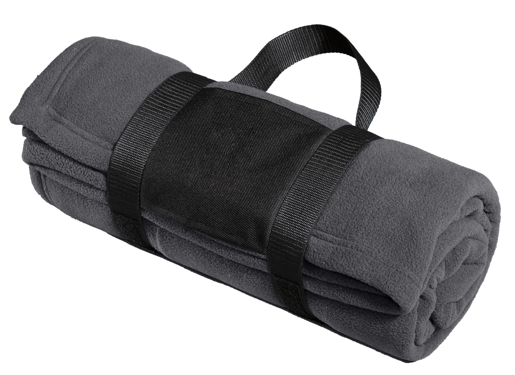 Port Authority ®  Fleece Blanket with Carrying Strap. BP20 - Iron Grey