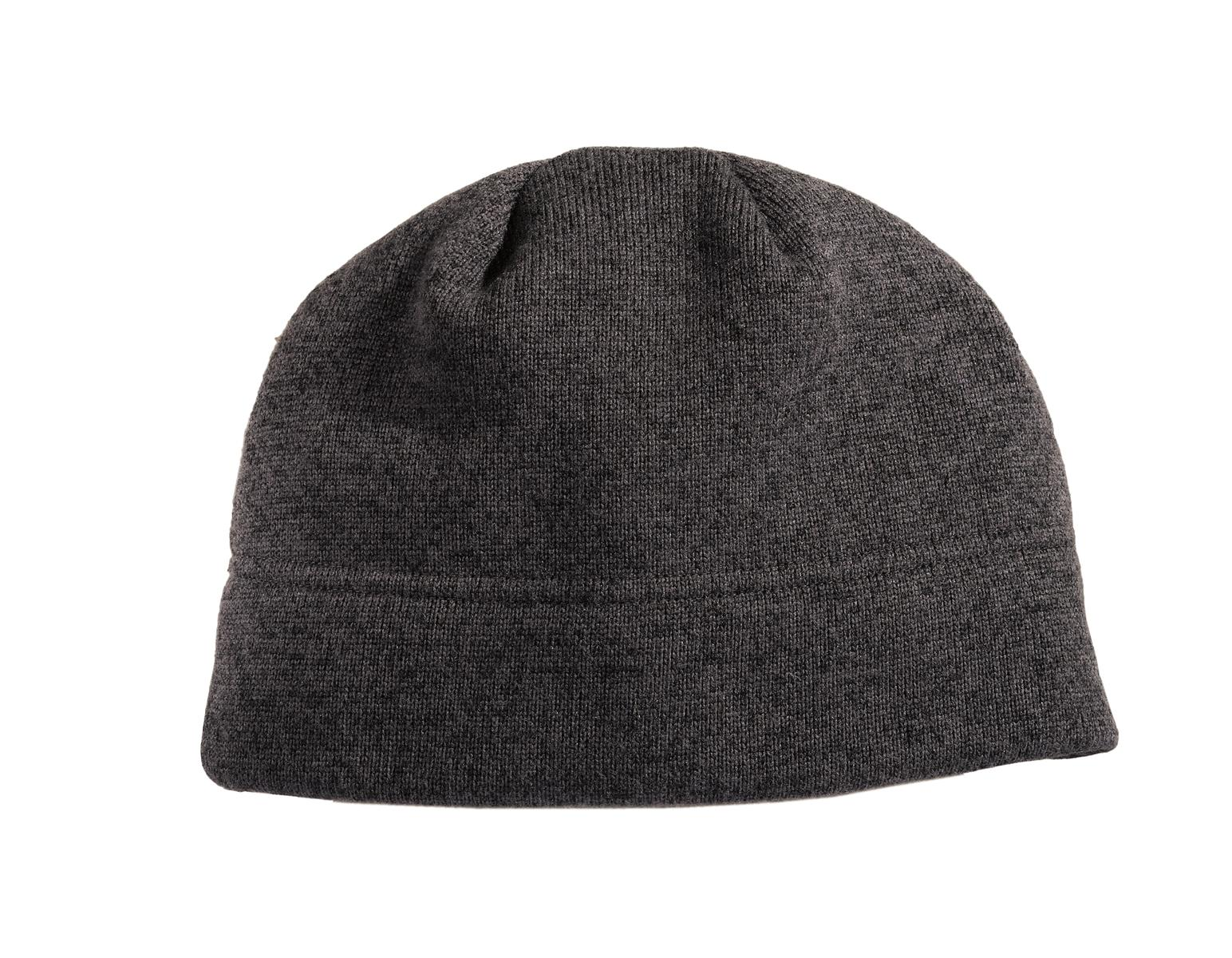 Port Authority ®  Heathered Knit Beanie. C917 - Black Heather/ Charcoal