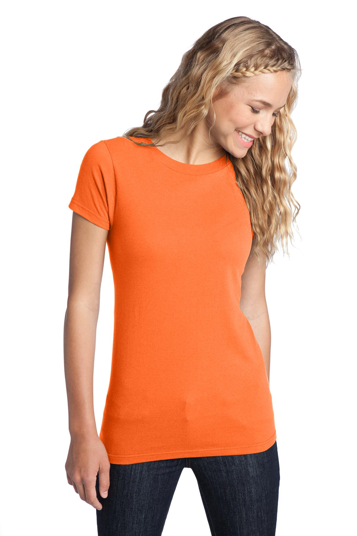 District ®  Women's Fitted The Concert Tee ®  DT5001 - Neon Orange