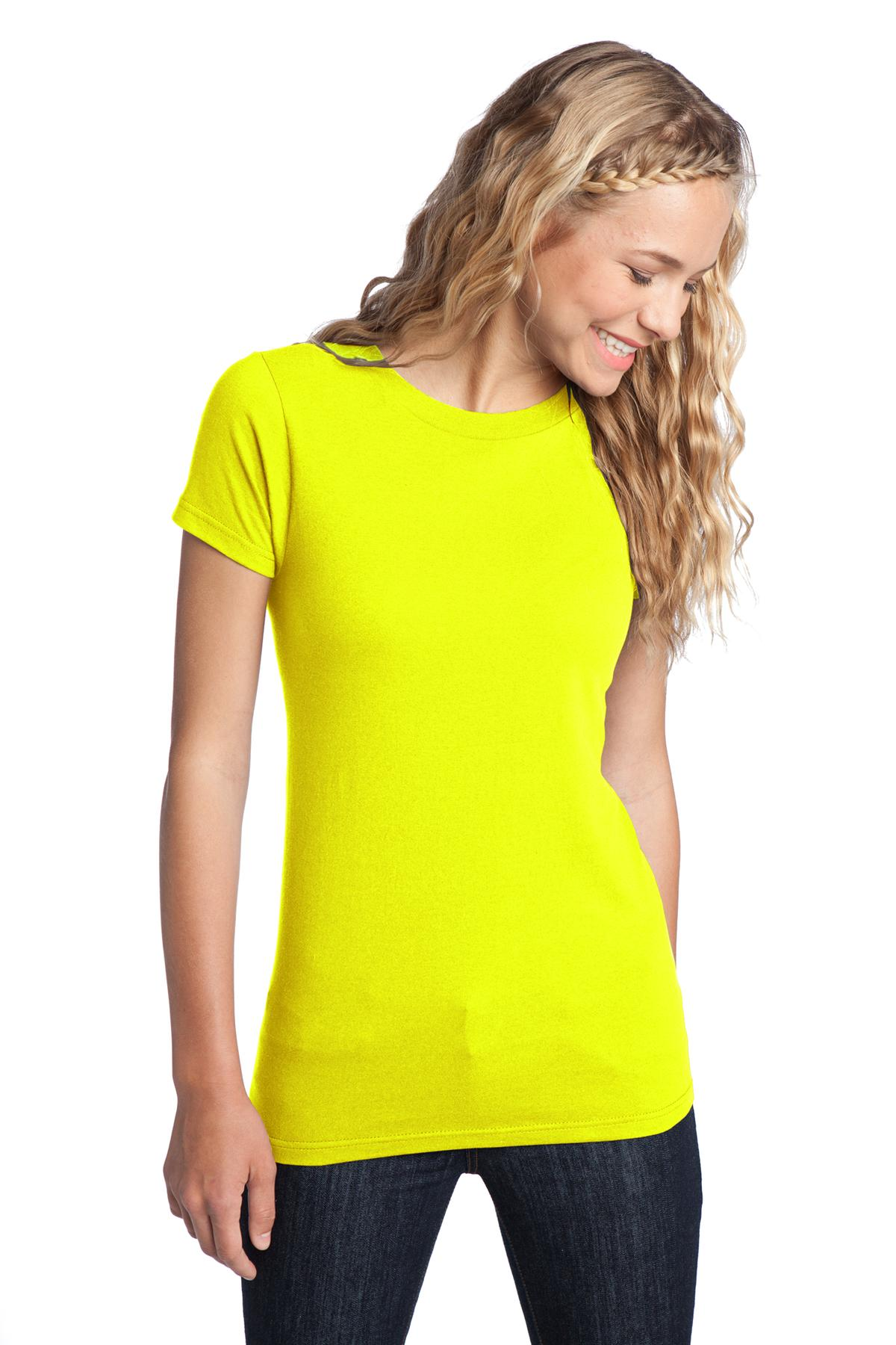District ®  Women's Fitted The Concert Tee ®  DT5001 - Neon Yellow