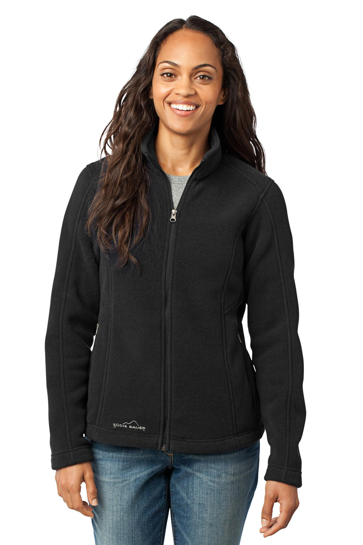 Eddie Bauer ®  - Ladies Full-Zip Fleece Jacket. EB201 - Black
