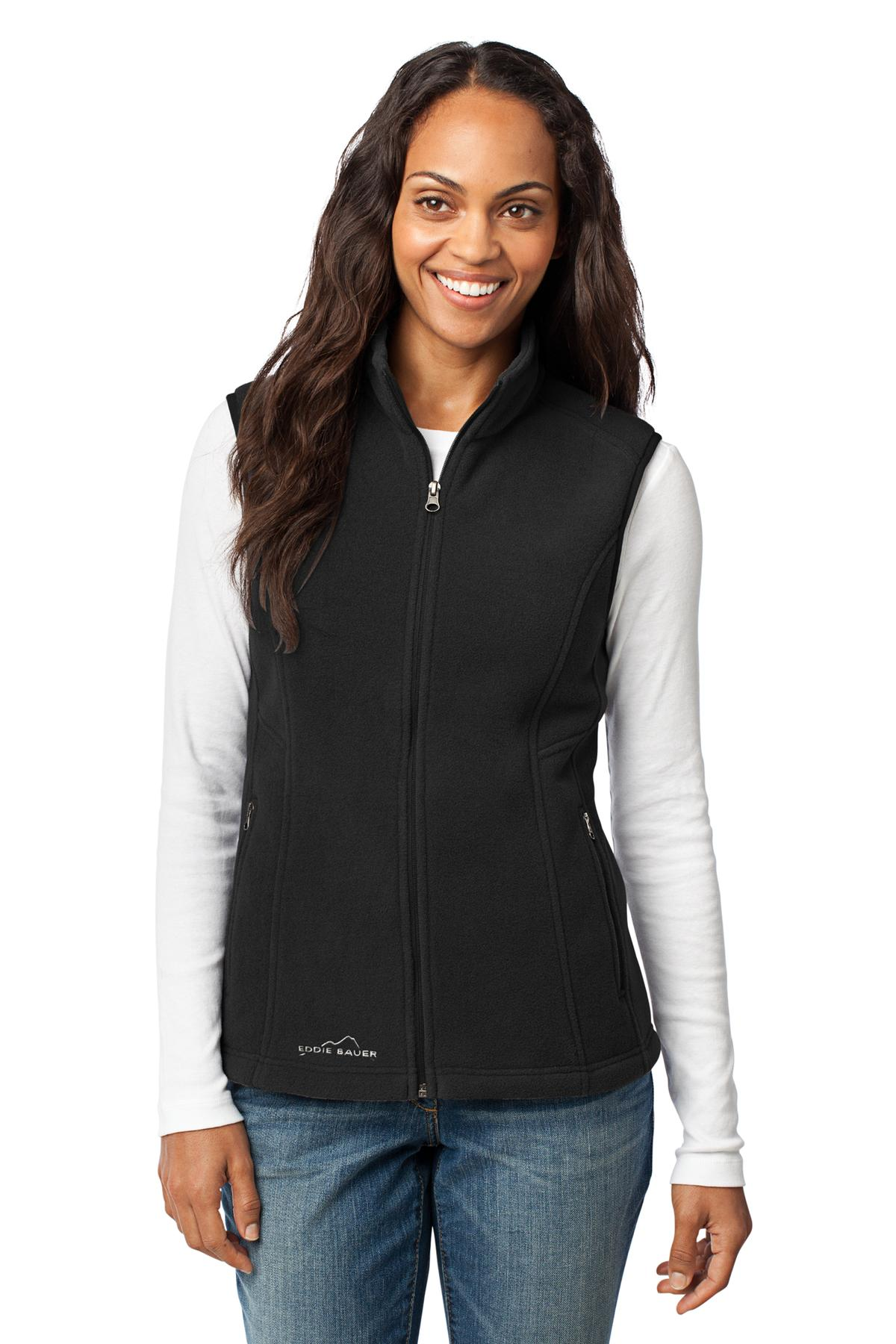 Eddie Bauer ®  - Ladies Fleece Vest. EB205 - Black