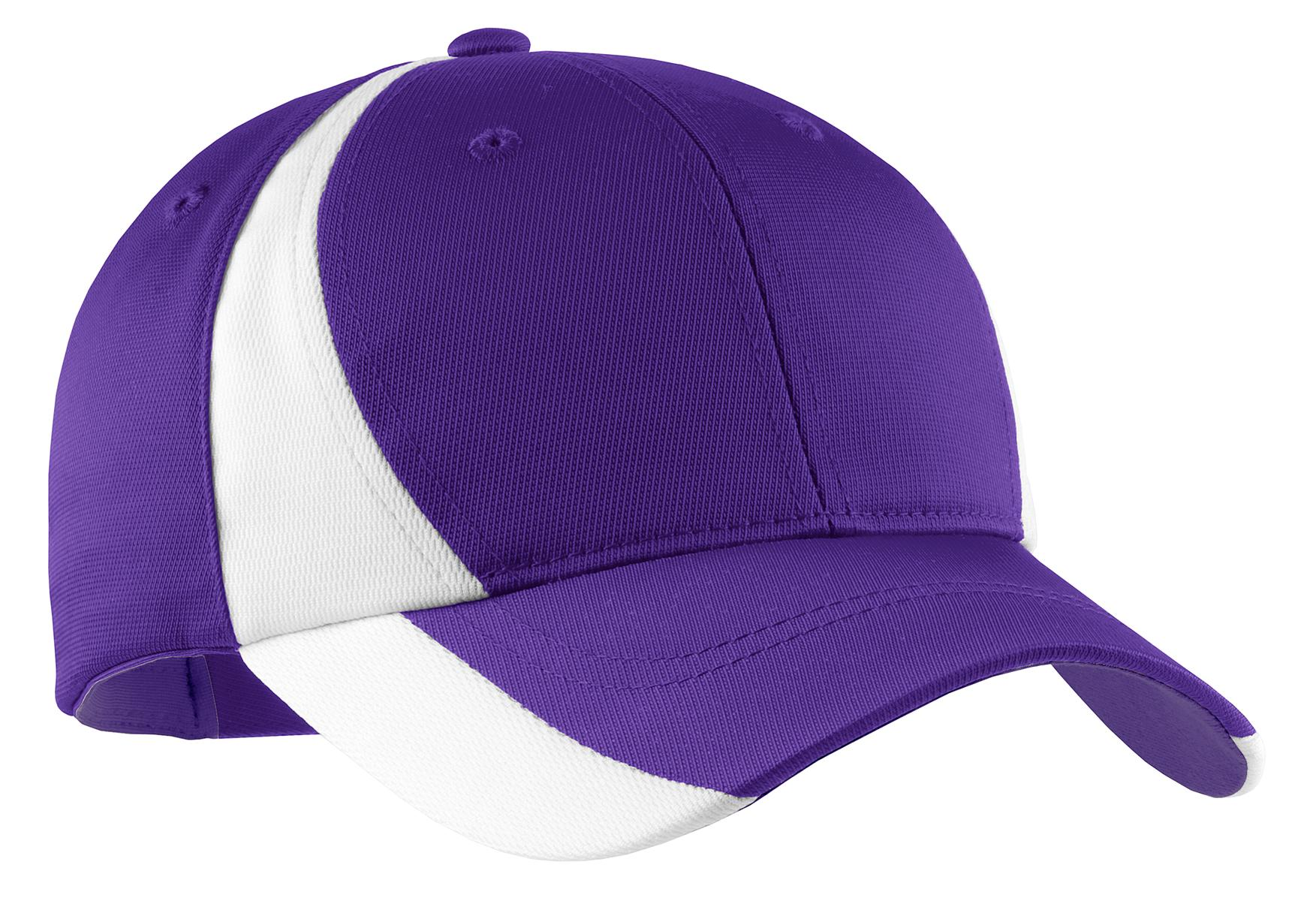 Sport-Tek ®  Dry Zone ®  Nylon Colorblock Cap. STC11 - Purple/ White