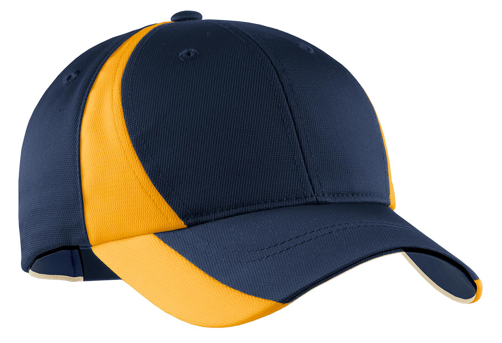 Sport-Tek ®  Dry Zone ®  Nylon Colorblock Cap. STC11 - True Navy/ Gold