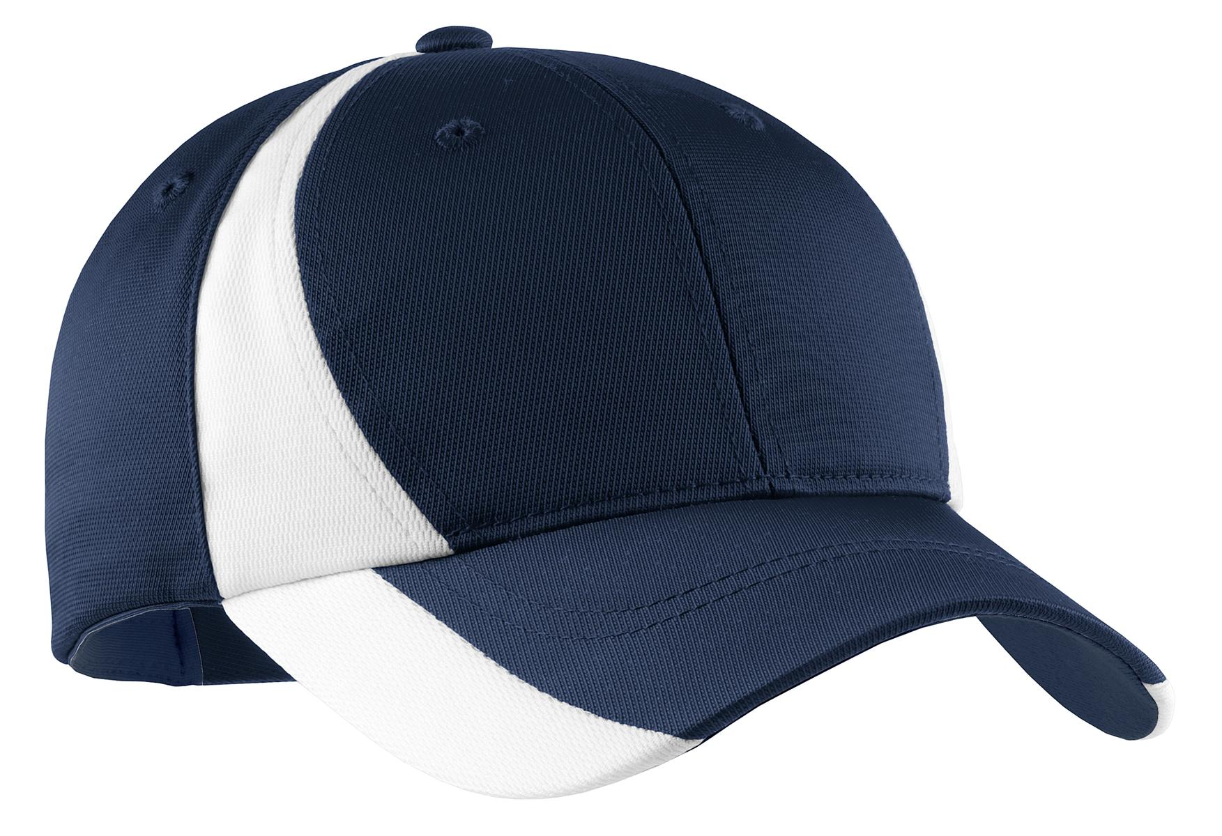 Sport-Tek ®  Dry Zone ®  Nylon Colorblock Cap. STC11 - True Navy/ White