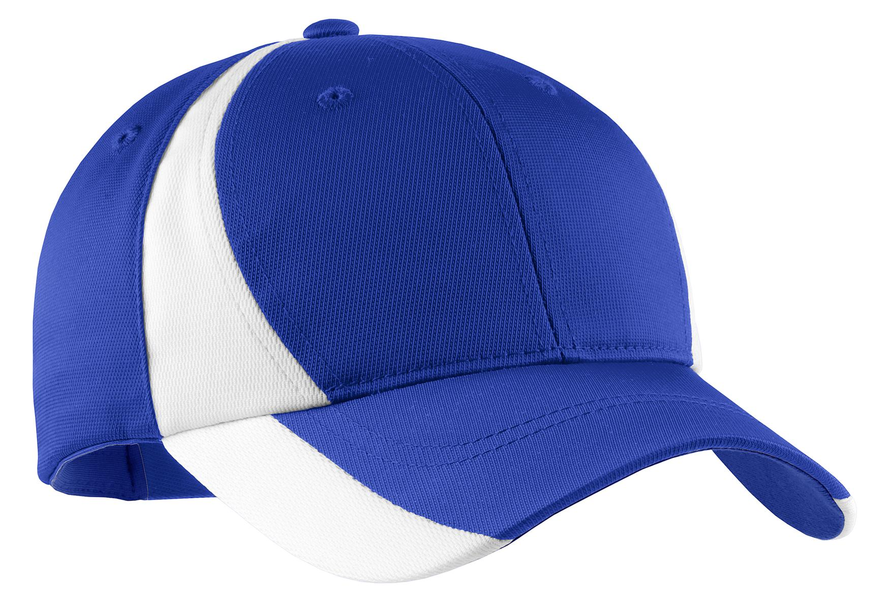 Sport-Tek ®  Dry Zone ®  Nylon Colorblock Cap. STC11 - True Royal/ White