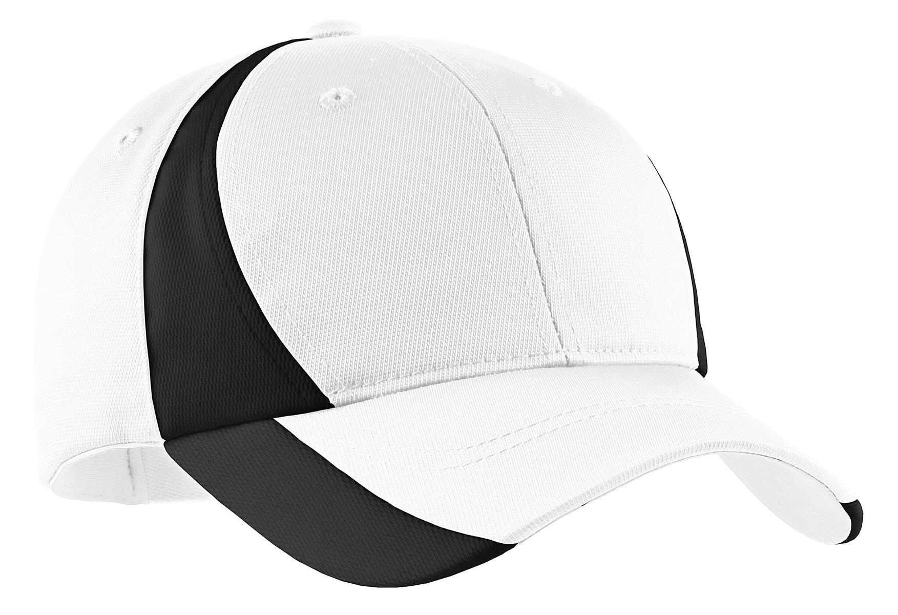 Sport-Tek ®  Dry Zone ®  Nylon Colorblock Cap. STC11 - White/ Black