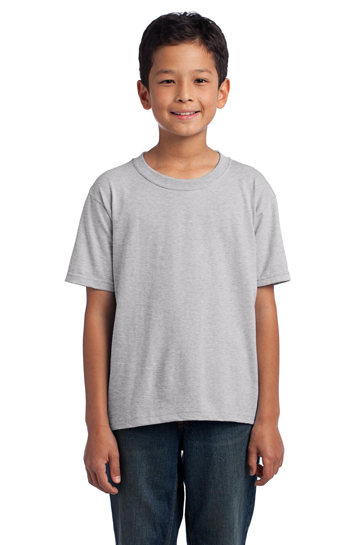 Fruit of the Loom ®  Youth HD Cotton ™  100% Cotton T-Shirt. 3930B - Athletic Heather*