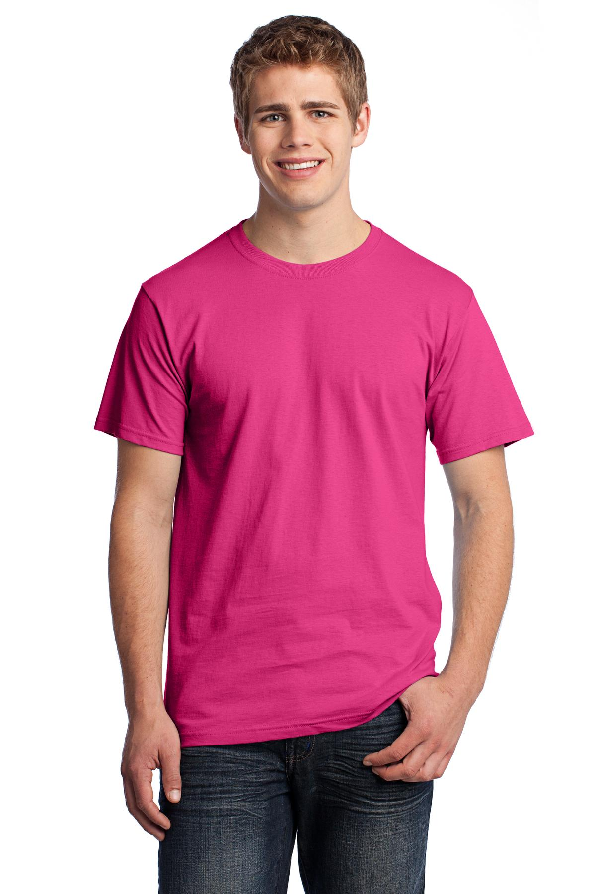 Fruit of the Loom ®  HD Cotton ™  100% Cotton T-Shirt. 3930 - Cyber Pink
