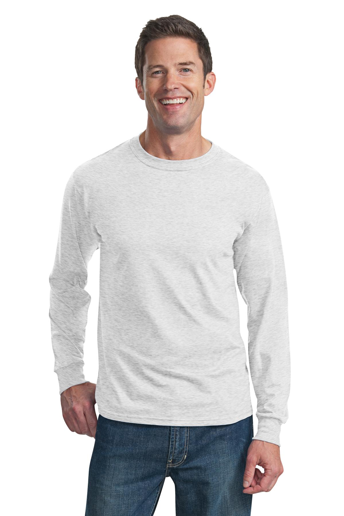 Fruit of the Loom ®  HD Cotton ™  100% Cotton Long Sleeve T-Shirt. 4930 - Ash*
