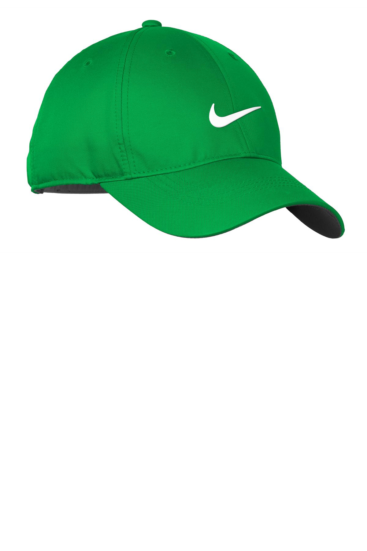 Nike Dri-FIT Swoosh Front Cap. 548533 - Lucky Green/ White