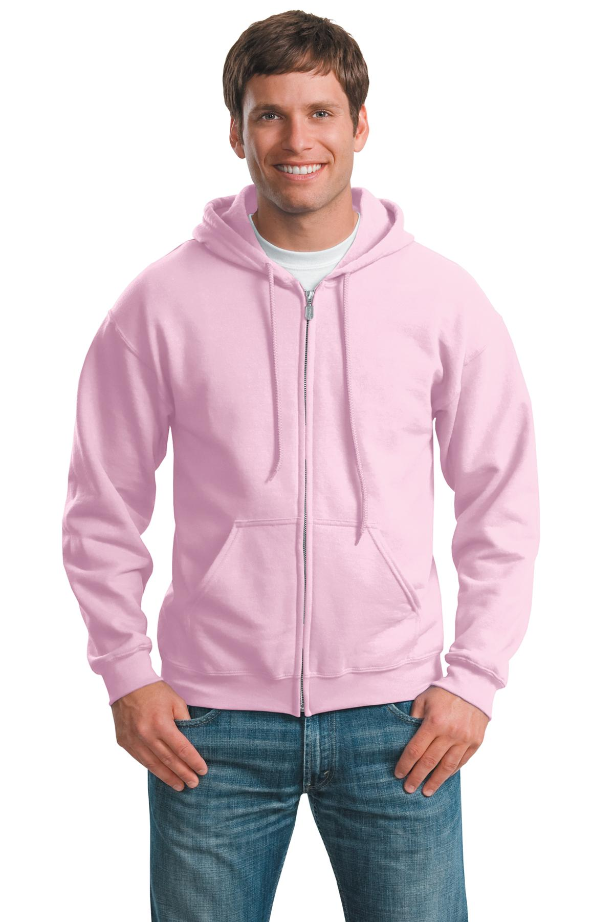 Gildan ®  - Heavy Blend™ Full-Zip Hooded Sweatshirt. 18600 - Light Pink
