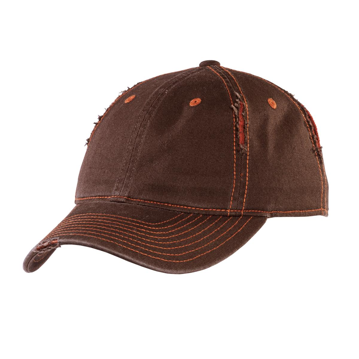 District ®  Rip and Distressed Cap DT612 - Brown/Rust