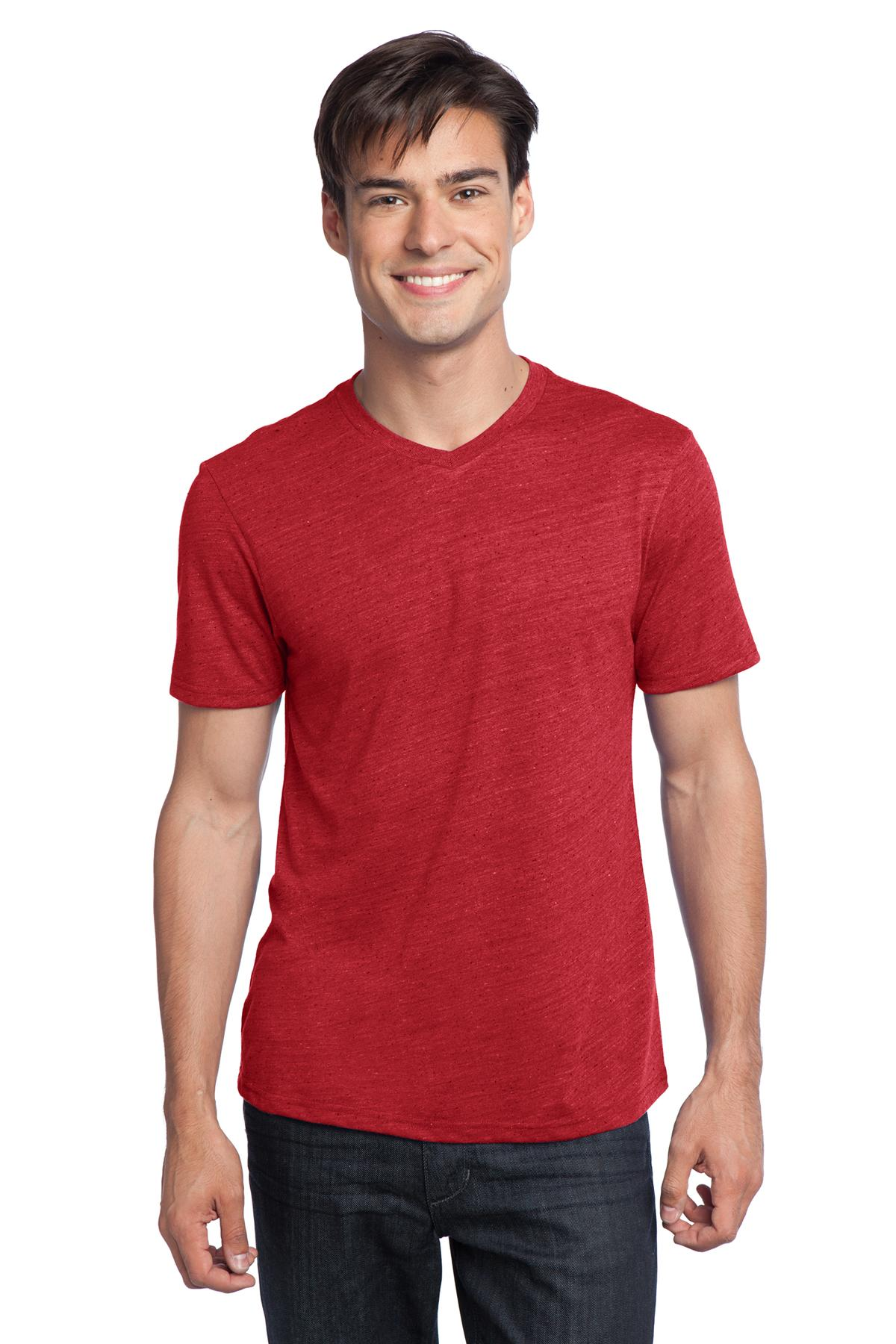 CLOSEOUT District - Young Mens Textured Notch Crew Tee. DT172