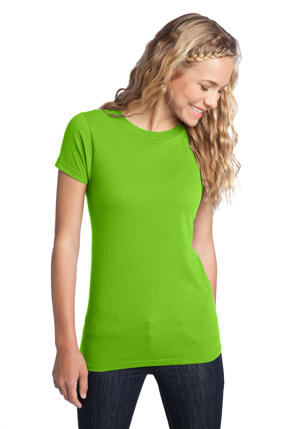 District ®  Women's Fitted The Concert Tee ®  DT5001 - Neon Green