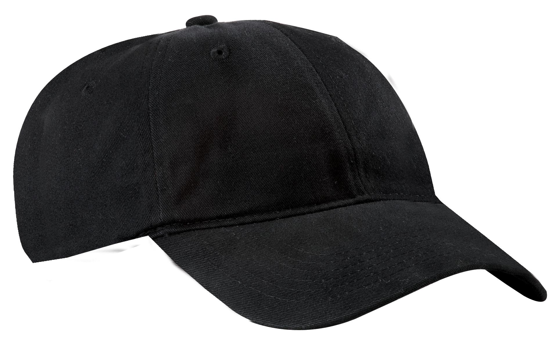 Port & Company ®  Brushed Twill Low Profile Cap.  CP77 - Black