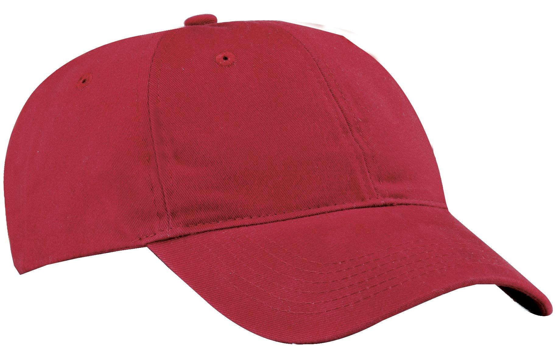 Port & Company ®  Brushed Twill Low Profile Cap.  CP77 - Red