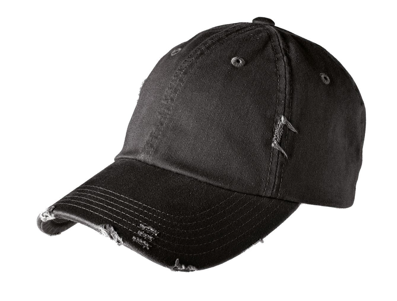 District ®  Distressed Cap. DT600 - Black
