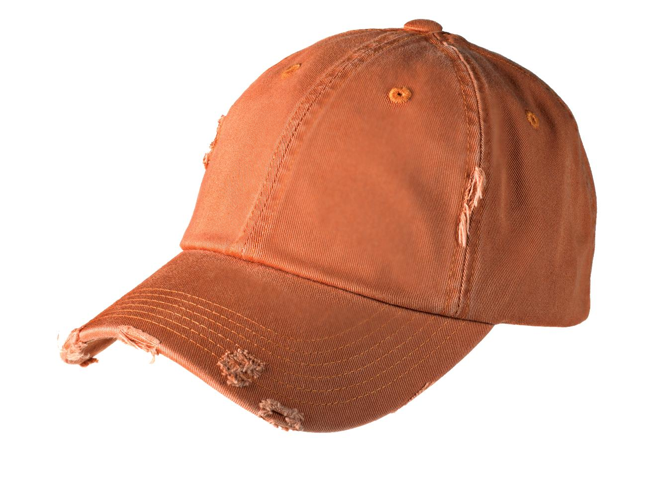 District ®  Distressed Cap. DT600 - Burnt Orange