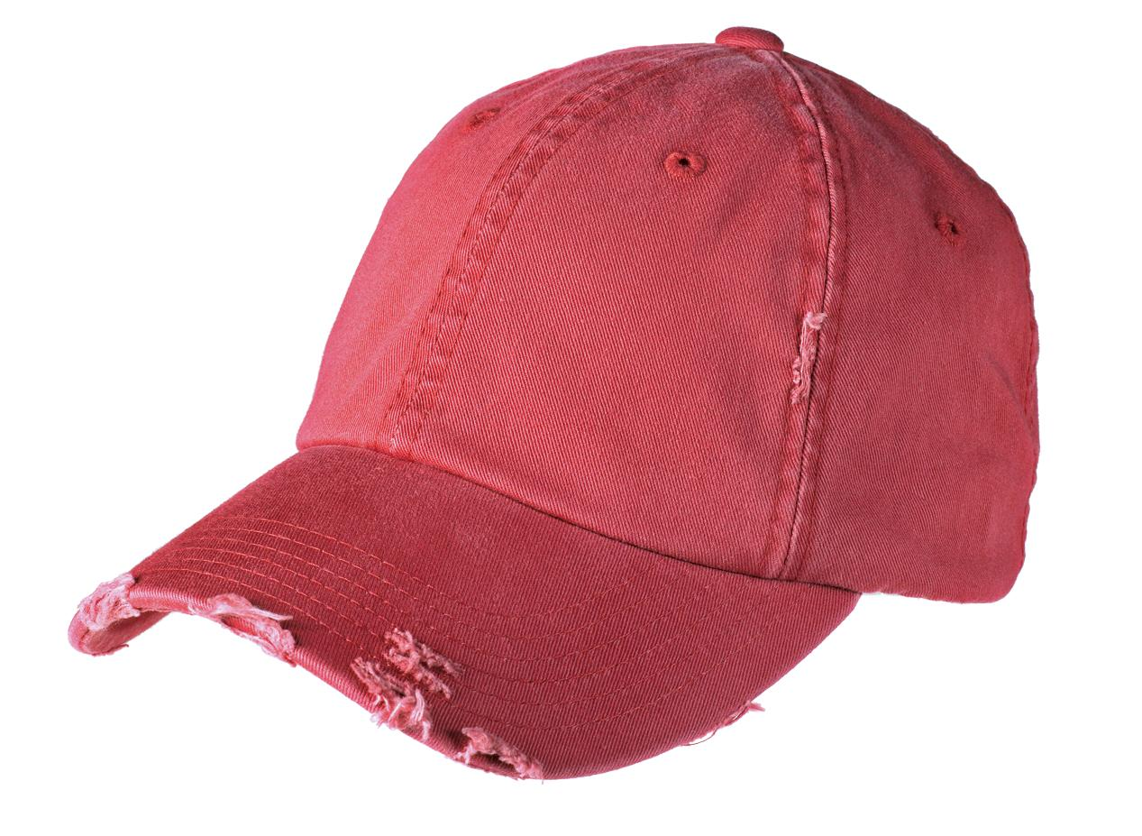 District ®  Distressed Cap. DT600 - Dashing Red