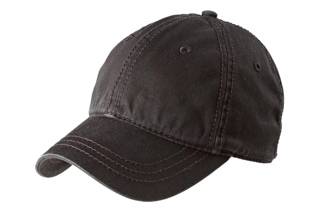 District ®   Thick Stitch Cap. DT610 - Black