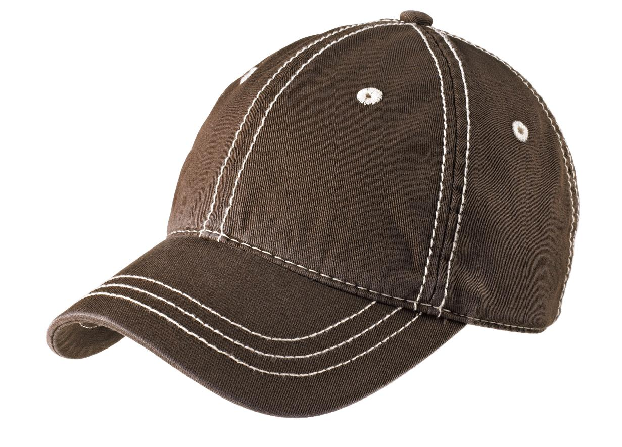 District ®   Thick Stitch Cap. DT610 - Chocolate Brown/Stone