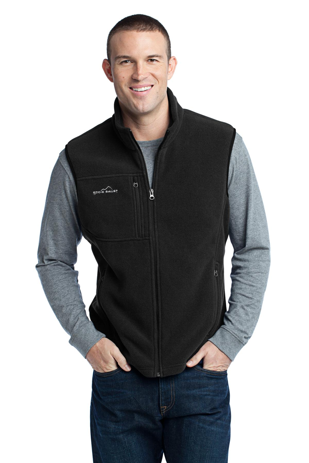 Eddie Bauer ®  - Fleece Vest. EB204 - Black