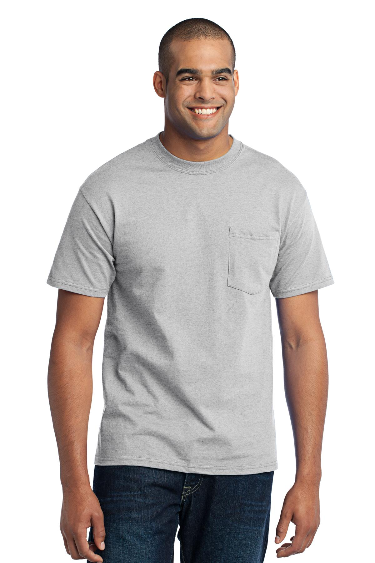 Port & Company ®  - Core Blend Pocket Tee. PC55P - Ash