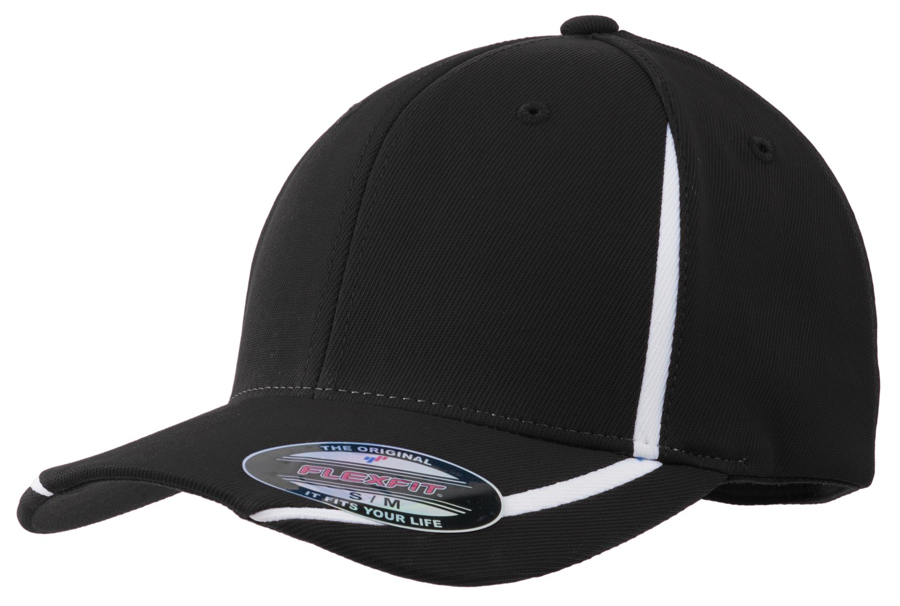 Sport-Tek ®  Flexfit ®  Performance Colorblock Cap. STC16 - Black/White