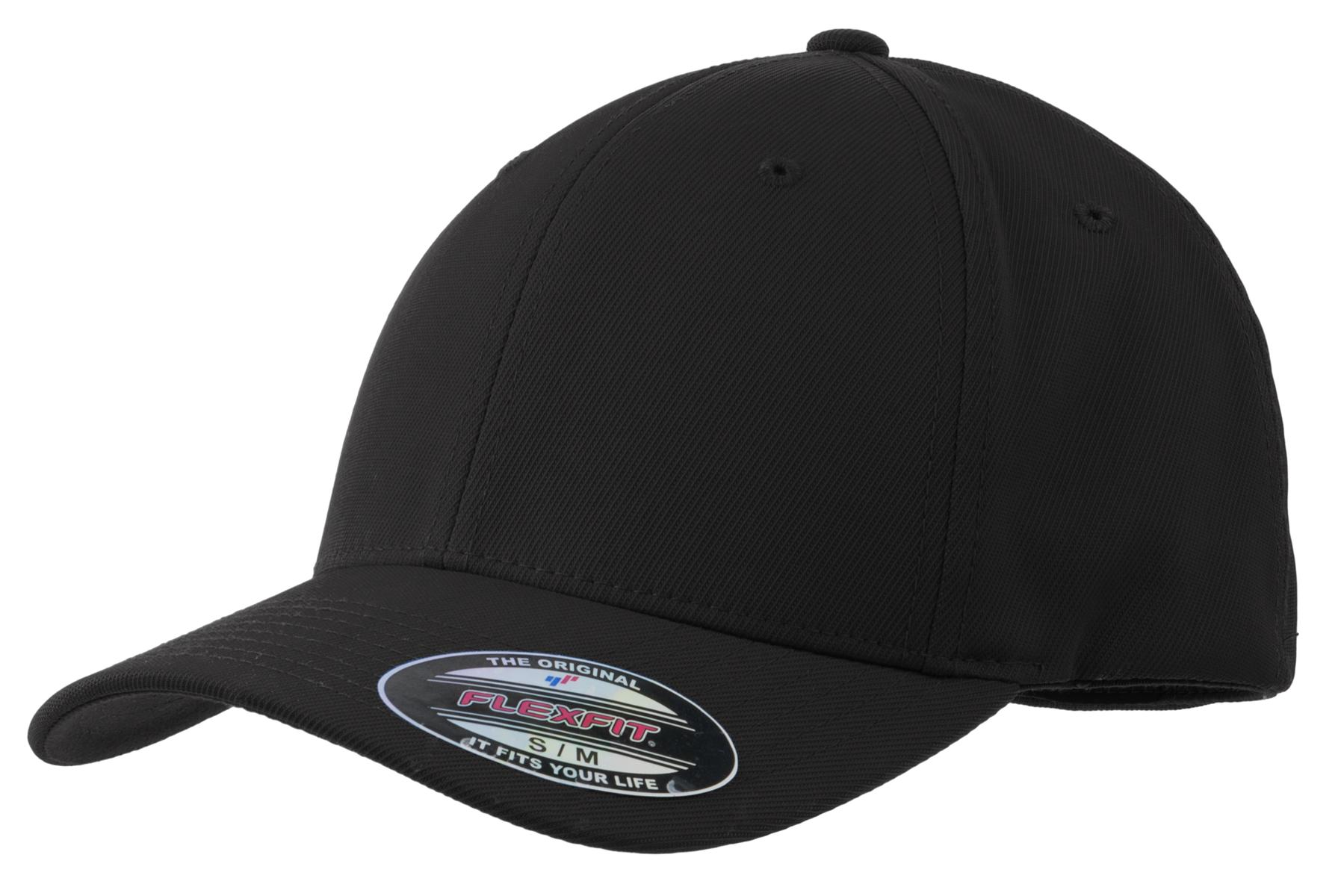 Sport-Tek ®  Flexfit ®  Performance Solid Cap. STC17 - Black