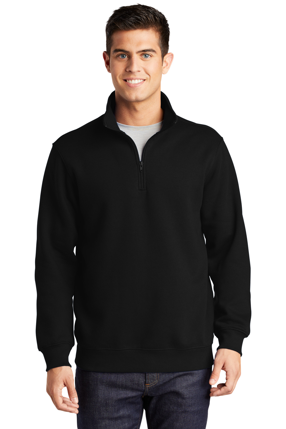 Sport-Tek ®  1/4-Zip Sweatshirt. ST253 - Black