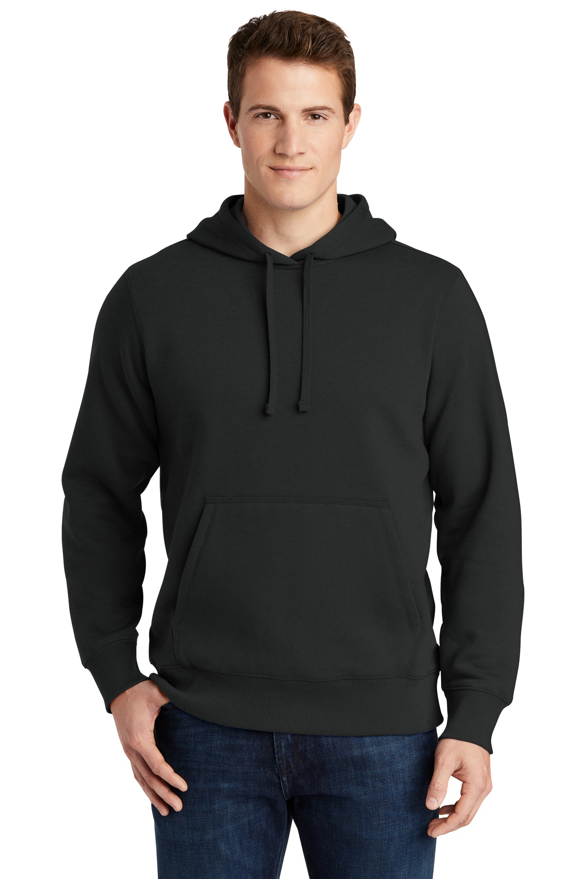 Sport-Tek ®  Pullover Hooded Sweatshirt. ST254 - Black