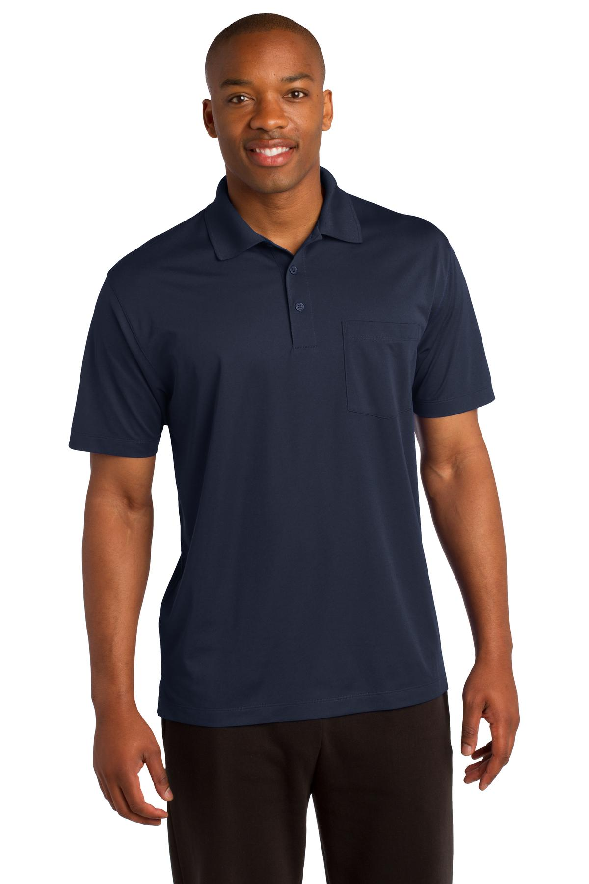 Sport-Tek ®  Micropique Sport-Wick ®  Pocket Polo. ST651 - True Navy